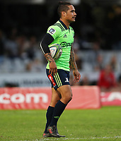 DURBAN, SOUTH AFRICA - MAY 05: Aaron Smith of the Pulse Energy Highlanders during the Super Rugby match between Cell C Sharks and Highlanders at Jonsson Kings Park Stadium in Durban, South Africa on Saturday, 5 May 2018. Photo: Steve Haag / stevehaagsports.com