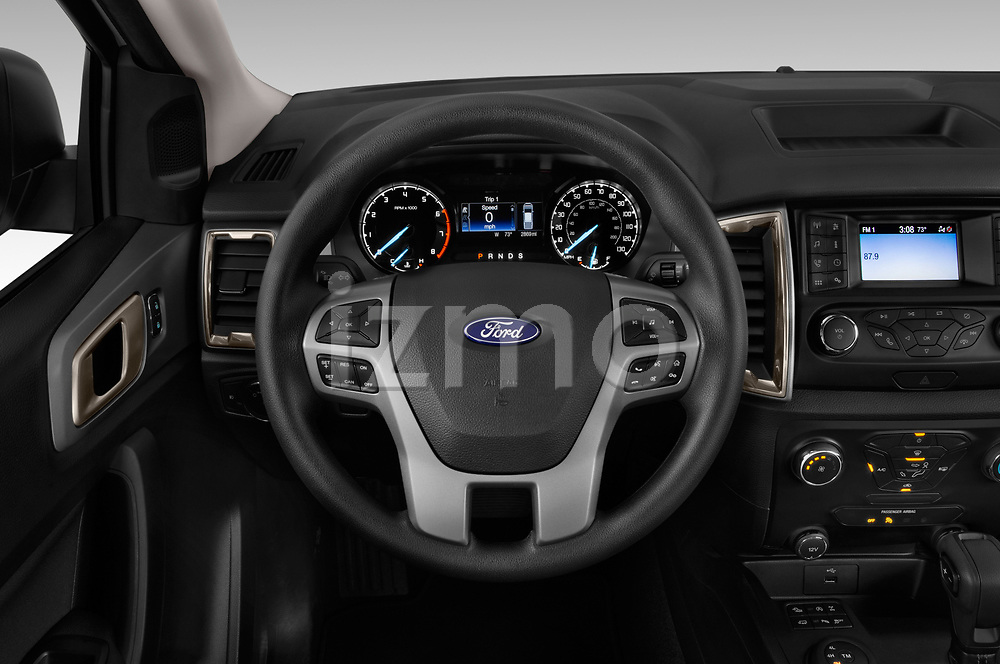 Car pictures of steering wheel view of a 2019 Ford Ranger XLT 4 Door Pick Up