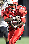 Lawndale, CA 10/01/10 - Michael Watkins (Lawndale #28) in action during the Peninsula-Lawndale Varsity football game.