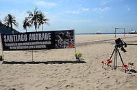RIO DE JANEIRO, RJ, 13.02.2014 - SANTIAGO ANDRADE / HOMENAGEM / COPACABANA- A ONG rio de Paz, presta uma homenagem a Santiago Andrade, cinegrafista da BAND, morto em protesto, atingido por um rojão, na manhã desta quinta-feira (13), em Copacabana, na zona sul da cidade do Rio de Janeiro, na  desta . (Foto: Marcelo Fonseca / Brazil Photo Press).