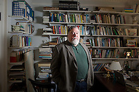 Kevin O'Neill is an Associate Professor of History and co-founder and former director of the Irish Studies Program at Boston College in Chestnut Hill, Massachusetts, USA. He is photographed here in his office in Boston College's Connolly House, which houses the Irish Studies Program and other Irish programs at the school.