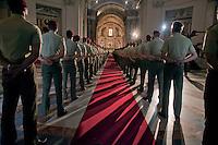 Roma 27 Luglio 2011.I funerali del primo caporal maggiore  Davide Tobini del  183esimo reggimento Nembo di Pistoia, ucciso in Afghanistan nella Basilica di Santa Maria degli Angeli a Roma.