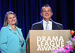 Bonnie Comley and Stan Ponte on stage during the 2018 Drama League Awards at the Marriot Marquis Times Square on May 18, 2018 in New York City.