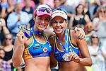 26.08.2017, Hamburg, Stadion Am Rothenbaum<br />Beachvolleyball, World Tour Finals<br /><br />2. Platz / Silber / Silbermedaille: Agatha Bednarczuk (#1 BRA) und Eduarda (Duda) Santos Lisboa (#2 BRA)<br /><br />  Foto © nordphoto / Kurth