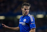 Cesar Azpilicueta of Chelsea during the UEFA Champions League match between Chelsea and Maccabi Tel Aviv at Stamford Bridge, London, England on 16 September 2015. Photo by Andy Rowland.
