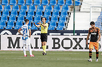 12th July 2020; Estadio Municipal de Butarque, Madrid, Spain; La Liga Football, Club Deportivo Leganes versus Valencia; Ruben Perez (CD Leganes) sets up to take and score from the penalty spot for 1-0 in the 18th minute