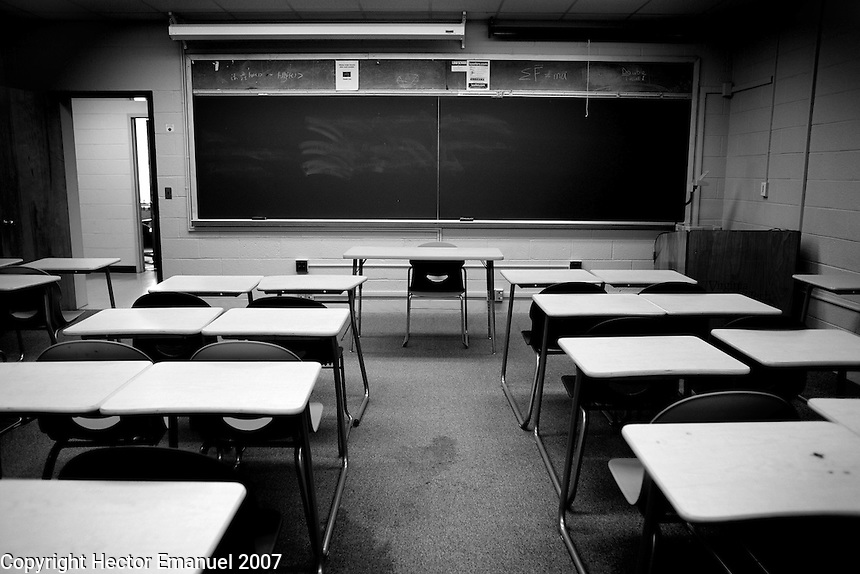 VATech shootings Day 2..Empty classroom...photo: Hector Emanuel