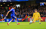 Porto's Iker Casiilas saves Diego Costa only for the ball to rebound off Ivan Marcano into his own net<br /> <br /> UEFA Champions League - Chelsea v FC Porto - Stamford Bridge - England - 9th December 2015 - Picture David Klein/Sportimage