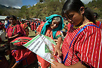 Native triqui women of San Juan Copala attend the opening ceremony of the autonomous municipality of San Juan Copala, January 20, 2007. Due to political violence, the Native people of three municipalities have decided to rule themselves as an autonomous municipalty. A Native triqui peasant who joined the organization was shot to death January 19, 2007 at an ambush. Photo by Heriberto Rodriguez