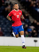 23rd March 2018, Hampden Park, Glasgow, Scotland; International Football Friendly, Scotland versus Costa Rica; Francisco Calvo of Costa Rica in action
