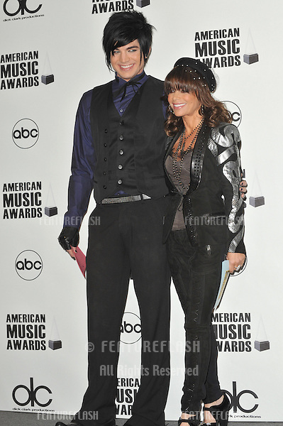 Paula Abdul & Adam Lambert at the nominations announcement for the 2009 American Music Awards at the Beverly Hills Hotel..October 13, 2009  Los Angeles, CA.Picture: Paul Smith / Featureflash