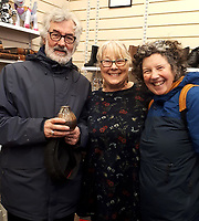 BNPS.co.uk (01202 558833)<br /> Pic: WeldmarHospicecare/BNPS<br /> <br /> L-R is Ben Pritchard, Lynne Farwell (The store's deputy manager Lynne Farwell), and Cathy O'Neill<br /> <br /> Pot Luck...<br /> <br /> A man who attended a pottery class 32 years ago has bought back one of his own pieces for £3.50 after stumbling across it in a charity shop.<br /> <br /> Ben Pritchard made the small pot during an evening class at the Oxford College of Further Education way back in 1988.<br /> <br /> In the years since making the tiny piece of porcelain, Mr Pritchard forgot all about his creation and had no idea what became of it.<br /> <br /> He was therefore stunned to discover it sitting on a shelf for sale Weldmar Hospicecare charity shop in Wimborne, Dorset.