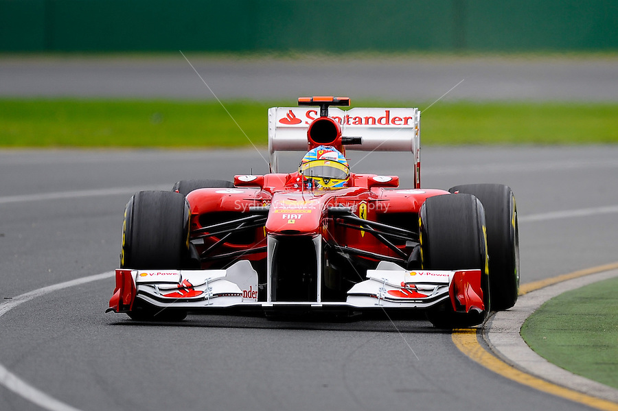 MELBOURNE, 26 MARCH - Fernando Alonso (Spain) driving the Scuderia Ferrari Marlboro car (5) during practise session three of the 2011 Formula One Australian Grand Prix at the Albert Park Circuit, Melbourne, Australia. (Photo Sydney Low / syd-low.com)