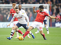 Preston North End's Alan Browne battles with  Nottingham Forest's Claudio Yacob<br /> <br /> Photographer Mick Walker/CameraSport<br /> <br /> The EFL Sky Bet Championship - Nottingham Forest v Preston North End - Saturday 8th December 2018 - The City Ground - Nottingham<br /> <br /> World Copyright © 2018 CameraSport. All rights reserved. 43 Linden Ave. Countesthorpe. Leicester. England. LE8 5PG - Tel: +44 (0) 116 277 4147 - admin@camerasport.com - www.camerasport.com