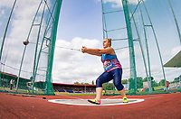 Joanna FIODOROW of Poland during the mixed hammer throw during the Muller Grand Prix Birmingham Athletics at Alexandra Stadium, Birmingham, England on 20 August 2017. Photo by Andy Rowland.