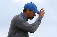 Tiger Woods (USA) during Round One of the 148th Open Championship, Royal Portrush Golf Club, Portrush, Antrim, Northern Ireland. 18/07/2019. Picture David Lloyd / Golffile.ie<br /> <br /> All photo usage must carry mandatory copyright credit (© Golffile | David Lloyd)