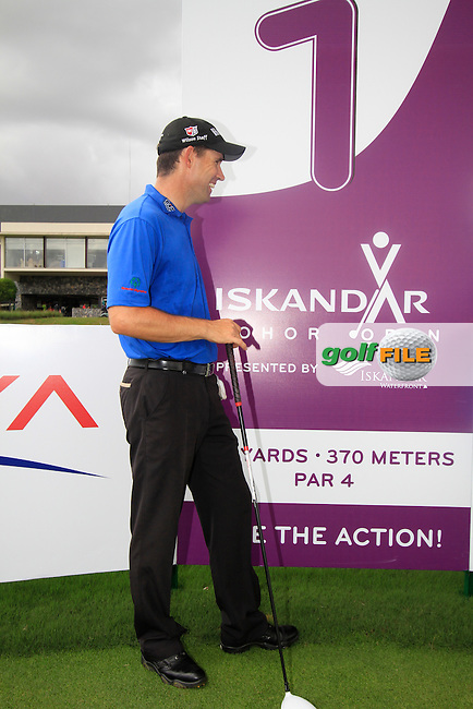 Defending champion Padraig Harrington (IRL) before teeing off on the 1st tee during Tuesday's Pro-Am 2011 Iskandar Johor Open, Horizon Hills Golf Club, Johor, Malaysia, 15th November 2011 (Photo Eoin Clarke/www.golffile.ie)
