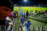 Kerry and Dublin Players leave the field at half time of the Allianz Football League Division 1 Round 3 match between Kerry and Dublin at Austin Stack Park in Tralee, Kerry on Saturday night.