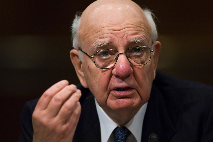 WASHINGTON, DC - Feb. 26: Paul Volcker, chairman of the President's Economic Advisory Board, testifies during the Joint Economic Committee hearing on the financial crisis. (Photo by Scott J. Ferrell/Congressional Quarterly)
