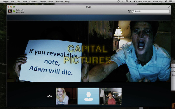 Unfriended (2014) <br /> Moses Jacob Storm, Renee Olstead, Will Peltz<br /> *Filmstill - Editorial Use Only*<br /> CAP/KFS<br /> Image supplied by Capital Pictures
