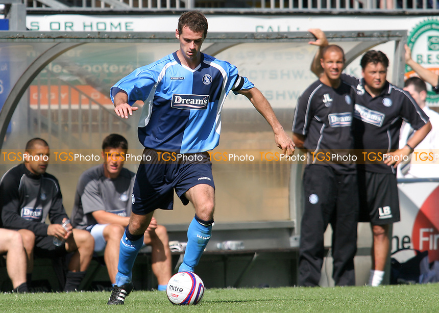 David McCracken of Wycombe Wanderers, a former Dundee United player and Scotland U21 International in action during Wycombe Wanderers vs Southend United, Friendly Match Football at Adams Park on 2nd August 2008