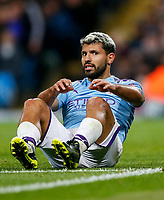Sergio Aguero of Manchester City looks dejected after a missed chance during the UEFA Champions League Group C match between Manchester City and Dinamo Zagreb at the Etihad Stadium on October 1st 2019 in Manchester, England. (Photo by Daniel Chesterton/phcimages.com)<br /> Foto PHC/Insidefoto <br /> ITALY ONLY