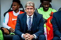 Manuel Pellegrini, Manager of Manchester City prior to the Barclays Premier League match between Swansea City and Manchester City played at the Liberty Stadium, Swansea on the 15th of May  2016
