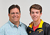 Tim Dearie, St. Anthony's track and field coach, and son Ryan Dearie pose for a portrait at Newsday headquarters on Wednesday, June 15, 2016. (note to editor: for upcoming Father's Day special)
