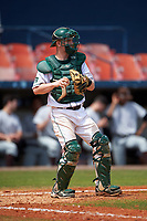 Dartmouth Big Green catcher Rob Emery (28) during a game against the Lehigh Mountain Hawks on March 20, 2016 at Chain of Lakes Stadium in Winter Haven, Florida.  Dartmouth defeated Lehigh 5-4.  (Mike Janes/Four Seam Images)