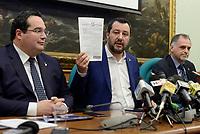Salvini e Lega in conferenza stampa su Quota 100