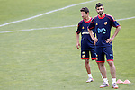 MADRID (25/05/09).- The Spanish Soccer national training session. Raul Albiol and Jesus Navas.  ..PHOTO: Cesar Cebolla / ALFAQUI