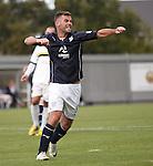 Peter MacDonald celebrates his second goal
