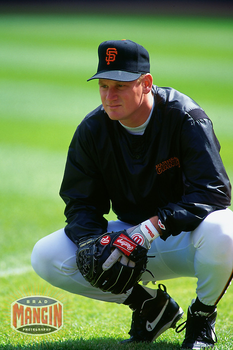 SAN FRANCISCO, CA - Matt Williams of the San Francisco Giants watches batting practice before a game at Candlestick Park in San Francisco, California in 1994. Photo by Brad Mangin