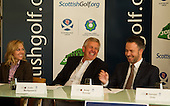Monty joins forces with Scottish Clubs to boost charity; Colin Montgomerie was at Gleneagles Hotel this morning for the launch of the 2012 Monty's Monthly Medal with the aim of raising funds for the Maggie's Centre Project in Lanarkshire: Picture Stuart Adams www.golftourimages.com: 5th March 2012