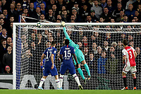 5th November 2019; Stamford Bridge, London, England; UEFA Champions League Football, Chelsea Football Club versus Ajax; Hakim Ziyech of Ajax free kick comes off the back of Kepa Arrizabalaga of Chelsea for a own goal for 1-3 in the 35th minute - Editorial Use
