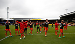 Sheffield Utd players applaud the fans during the English League One match at Vale Park Stadium, Port Vale. Picture date: April 14th 2017. Pic credit should read: Simon Bellis/Sportimage