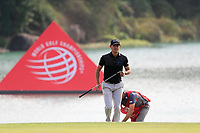 Patrick Cantaly (USA) on the 18th green during the 2nd round at the WGC HSBC Champions 2018, Sheshan Golf CLub, Shanghai, China. 26/10/2018.<br /> Picture Fran Caffrey / Golffile.ie<br /> <br /> All photo usage must carry mandatory copyright credit (&copy; Golffile | Fran Caffrey)