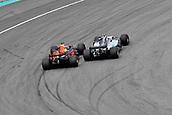 1st October 2017, Sepang, Malaysia;  FIA Formula One World Championship, Grand Prix of Malaysia;Daniel Ricciardo (AUS 3), Red Bull Racing, Valtteri Bottas (FIN 77), Mercedes AMG Petronas