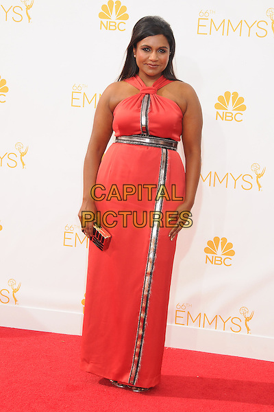 25 August 2014 - Los Angeles, California - Mindy Kaling. 66th Annual Primetime Emmy Awards - Arrivals held at Nokia Theatre LA Live. <br /> CAP/ADM/BP<br /> &copy;BP/ADM/Capital Pictures
