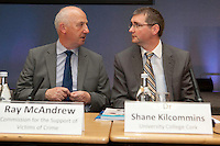 "**** NO FEE PIC***.12/04/2012 .(L to r).Ray McAndrew Chair of the Commission for the Support of Victims of Crime.Dr. Shane Kilcommins UCC.during a conference on the ""The EU Directive on Victims Rights: Opportunities and Challenges for Ireland"" hosted by the the Irish Council for Civil Liberties (ICCL) in Dublin Castle..Photo: Gareth Chaney Collins"
