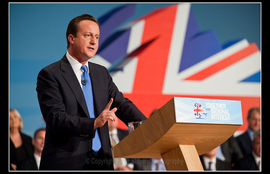 Prime Minister, David Cameron - Conservative Party Conference 2010 - Birmingham - 6th October 2010