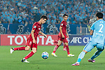 Shanghai FC Forward Oscar Emboaba Junior (L) in action during the AFC Champions League 2017 Round of 16 match between Jiangsu FC (CHN) vs Shanghai SIPG FC (CHN) at the Nanjing Olympic Stadium on 31 May 2017 in Nanjing, China. Photo by Marcio Rodrigo Machado / Power Sport Images