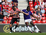 Clayton Donaldson of Sheffield Utd  scoring the first goal during the Championship match at the Stadium of Light, Sunderland. Picture date 9th September 2017. Picture credit should read: Simon Bellis/Sportimage