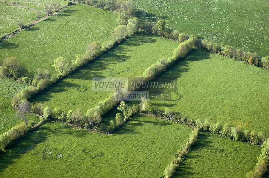 Europe/France/Pays de la Loire/49/Maine-et-Loire/Env de Saumur: Le bocage -vue aérienne