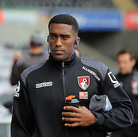 Sylvain Distin of Bournemouth arrives before the Barclays Premier League match between Swansea City and Bournemouth at the Liberty Stadium, Swansea on November 21 2015