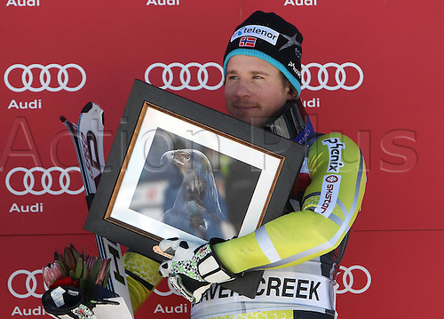 06.12.2011. Beaver Creek, USA. Ski Alpine FIS World Cup Giant slalom the men Award Ceremony Picture shows Kjetil Jansrud NOR