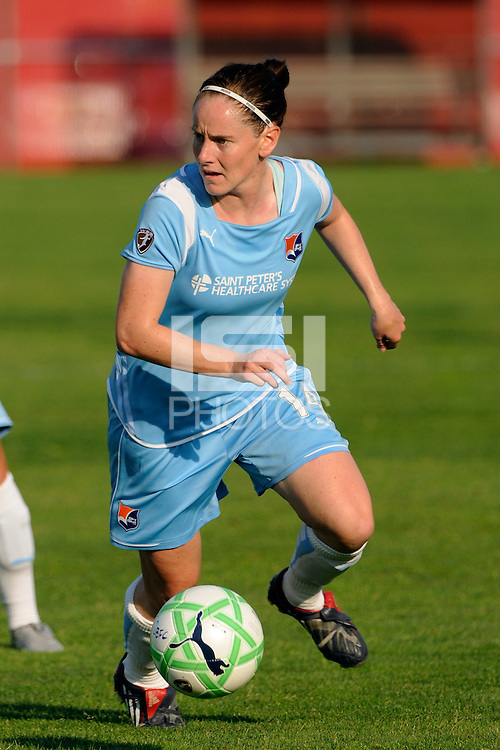 Collette McCallum (14) of Sky Blue FC. Sky Blue FC defeated the Boston Breakers 2-1 during a Women's Professional Soccer match at Yurcak Field in Piscataway, NJ, on May 31, 2009.