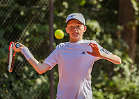 Hilversum, Netherlands, Juli 29, 2019, Tulip Tennis center, National Junior Tennis Championships 12 and 14 years, NJK, Hidde Schoenmakers (NED)<br /> Photo: Tennisimages/Henk Koster