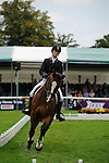 Paul Sims [GBR] riding Glengarnock during the Dressage phase of the 2014 Land Rover Burghley Horse Trials held at Burghley House, Stamford, Lincolnshire