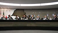 ATENCAO EDITOR: FOTO EMBARGADA PARA VEICULO INTERNACIONAL - SAO PAULO, SP, 28 NOVEMBRO 2012 - SEMINARIO BRASIL - POLONIA OPORTUNIDADES DE COOPERACAO BILATERAL - O Ministro das Relaçoes Exteriores da Polonia Radoslaw Sikorski esteve na Federaçao das Industrias do Estado de Sao Paulo (FIESP), nesta quarta-feira (28), onde participou do Seminario Brasil-Polonia: Oportunidades de cooperacao bilateral, onde apresentou aos mais de 50 empresarios poloneses e brasileiros as oportunidades de  negocios, nos setores de transporte e infraestrutura, petroleo e gas, energia, defesa e serviços de off-shore, nessa quarta, 28. (FOTO: LEVY RIBEIRO / BRAZIL PHOTO PRESS)